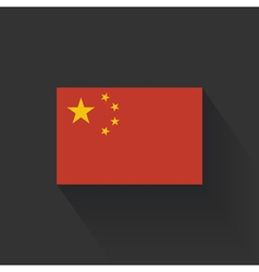 Flat flag of china vector