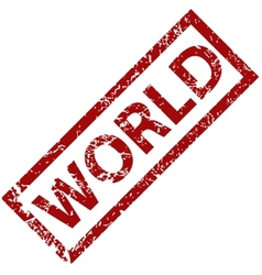 World rubber stamp vector