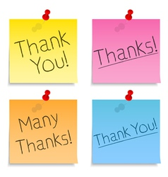 Thank you post-it notes vector