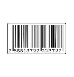 Black barcode vector