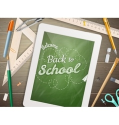 Tablet with a chalkboard eps 10 vector