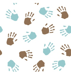 Seamless pattern - imprint hands vector