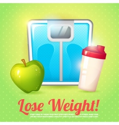 Weight poster diet vector