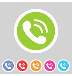 Phone telephone flat icon vector