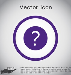 Question mark vector