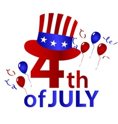 American independence day with hat celebration vector