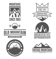 Set of vintage logo emblem label print or vector