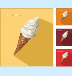 Icon with ice cream vector