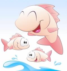 Cute cartoon fishes vector