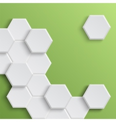 Abstract hexagonal background vector