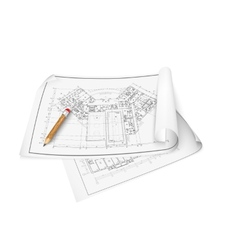 Architectural background drawing technical letters vector