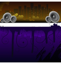 Abstract background with a urban landscape eps10 vector