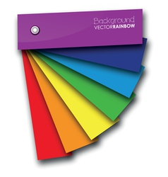 Rainbow book vector