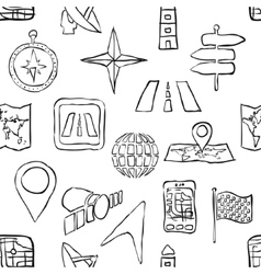 Sketch seamless navigation pattern vector