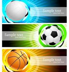 Banners with ball vector