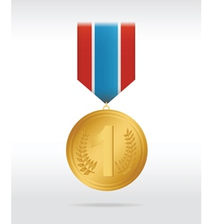 Medal gold vector