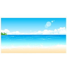 Idyllic beach vector