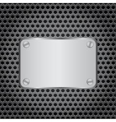 Metal label grid background vector