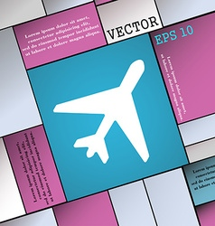 Airplane icon sign modern flat style for your vector