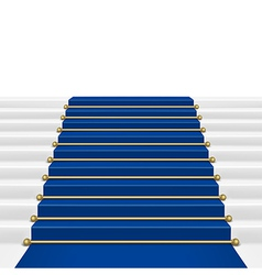 Blue carpet vector