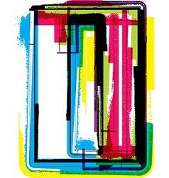 Colorful grunge font letter l vector