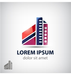Building icon logo isolated vector