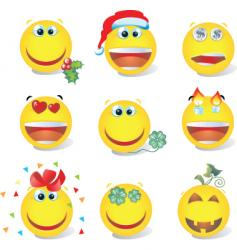 Smiley set vector