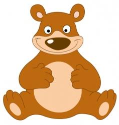Smiley bear vector