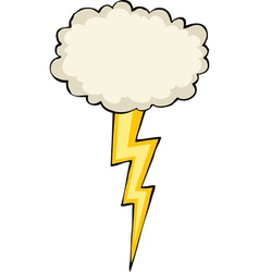 Cloud with lightning vector