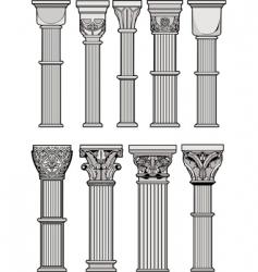 Roman columns vector