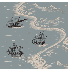 Land and sea vector