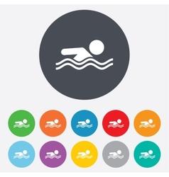 Swimming sign icon pool swim symbol vector