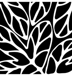 Hand drawn pattern black and white vector