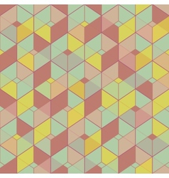 Geometric seamless pattern in vintage colors vector