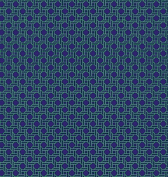 Navy green rope pattern vector