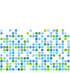 Blue green circles on white background vector