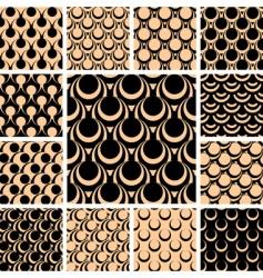 Graphic patterns set vector