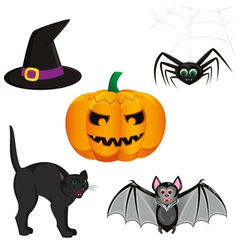 Set for registration cards for halloween consistin vector