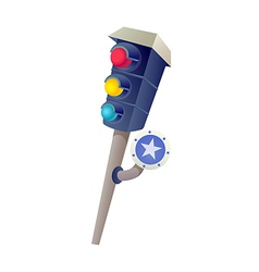 Icon traffic light vector