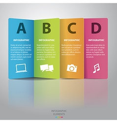 Colorful paper infographic vector