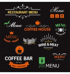 Restaurant signs vector