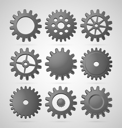 Steel cogwheels vector