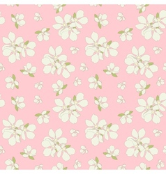 Seamless blossom background vector