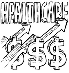 Healthcare costs increase vector