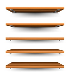 Wood shelves set vector