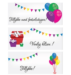 Postcards happy birthday vector
