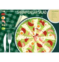 Caesar salad vector