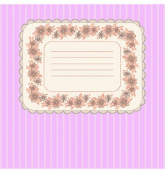Card with floral frame vector