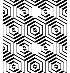 Continuous monochrome pattern decorative abstract vector