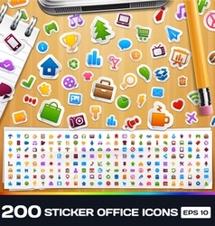 200 sticker icons vector